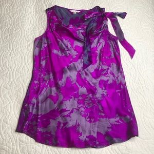 CAbi style 102 large pink and purple bow dress top